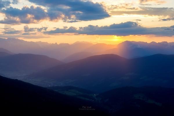 Sonnenuntergang Reiteralm