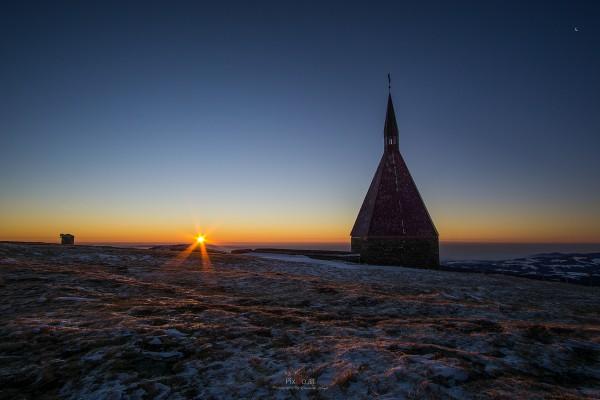 Sonnenaufgang am Hochwechsel