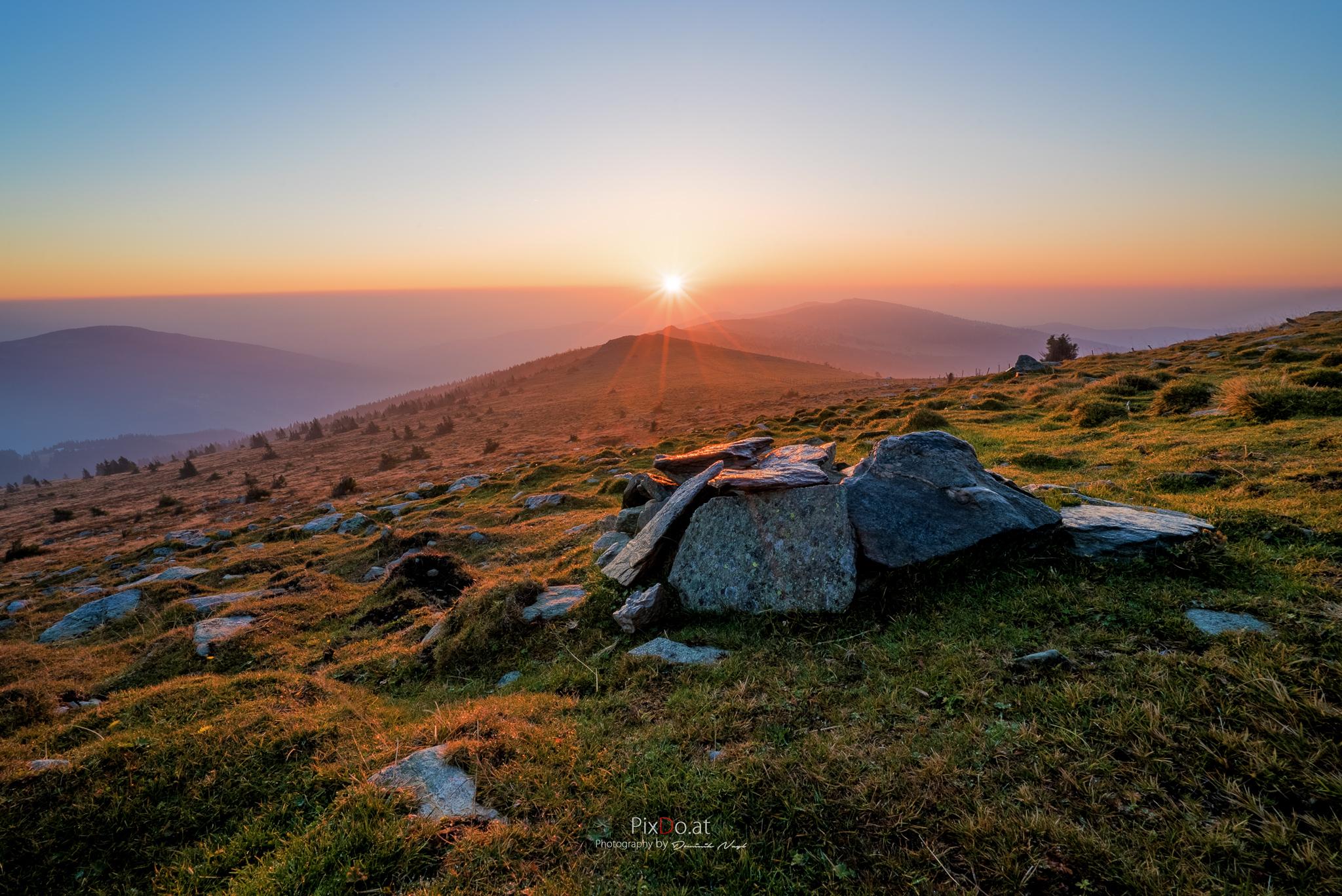 Sonnenaufgang Hochwechsel Herbst