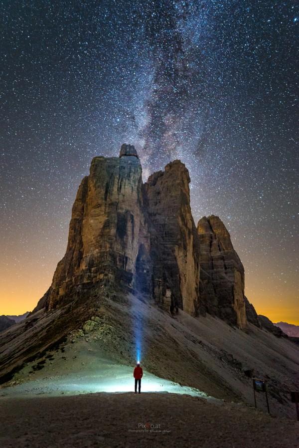Drei Zinnen unter dem Sternenhimmel