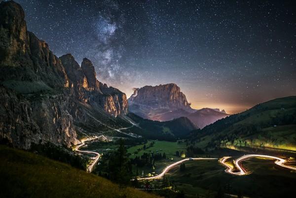 Milchstraße am Grödner Joch