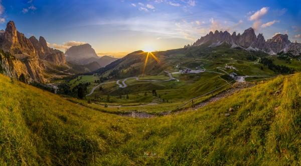 Grödner Joch Panorama