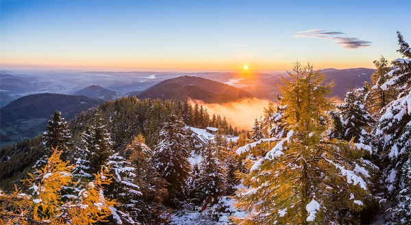 Sonnenaufgang am Sonnwendstein
