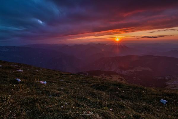 Sonnenuntergang Schneeberg