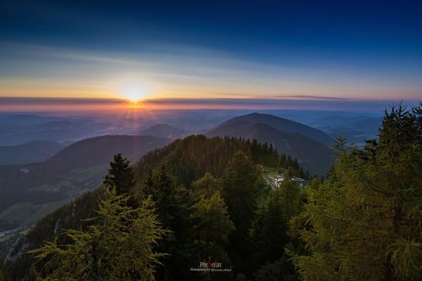 Sonnenaufgang Sonnwendstein