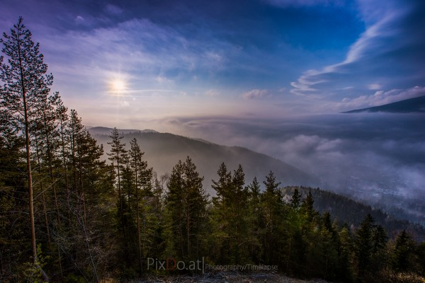 Sonnenaufgang Kernstockwarte