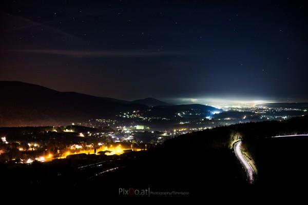 Gloggnitz bei Nacht