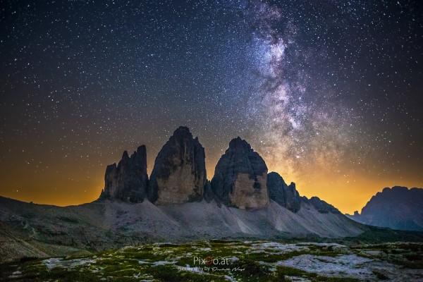 Milchstraße Drei Zinnen, Dolomiten