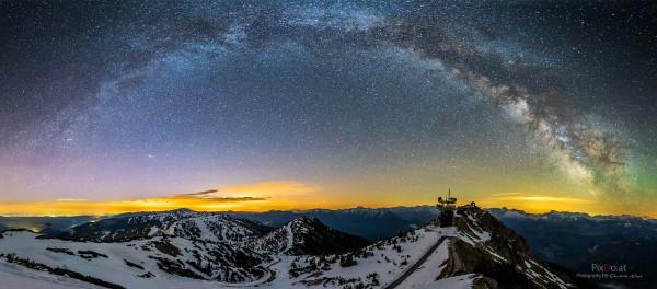 Milchstraßenpanorama am Hochkar