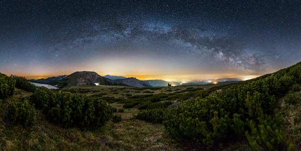 Milchstraßenpanorama auf der Rax #1
