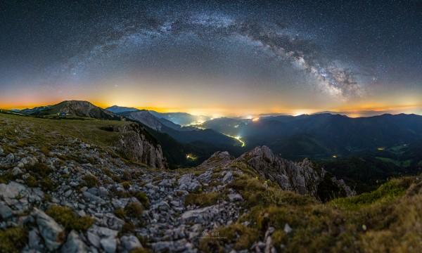 Milchstraßenpanorama auf der Rax #2