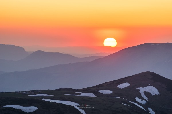 Sonnenuntergang auf der Rax